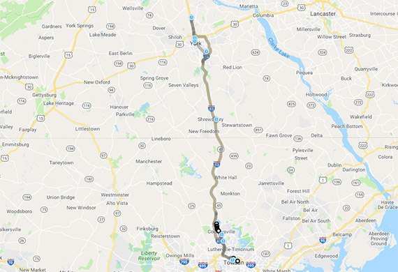 route 83s map