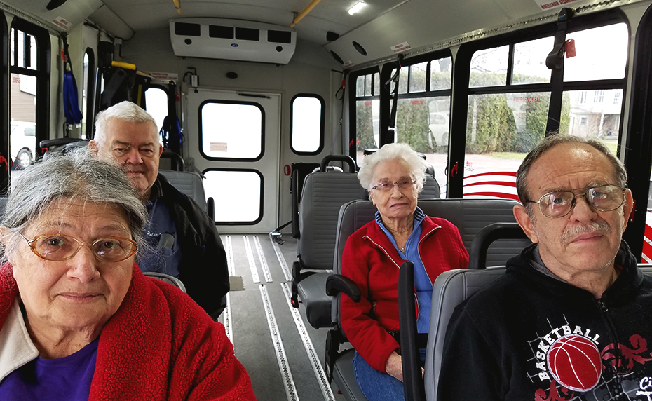 senior passengers on public transit
